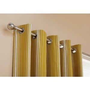 Habitat Striped Unlined Eyelet Curtains - Mustard, Yellow, Yellow