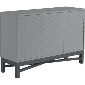 Habitat Zander Textured Large Sideboard - Grey, Grey, Grey