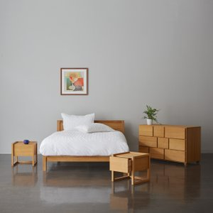 Habitat Hana Ii 150cm King Bed, Coen Mattress, Chest And 2 Bedsides, Oak, Oak