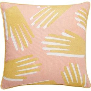 Habitat Hands Multi-coloured Printed Cushion 45 X 45cm, Multi-coloured, Multi-Coloured