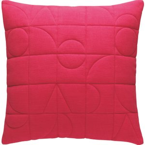 Habitat Harri Pink Quilted Cushion 45 X 45cm, Pink, Pink