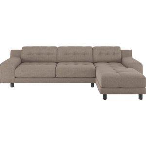 Habitat Hendricks Natural Fabric Right Arm Chaise Sofa, Natural, Natural