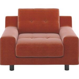 Habitat Hendricks Orange Velvet Armchair, Orange, Orange