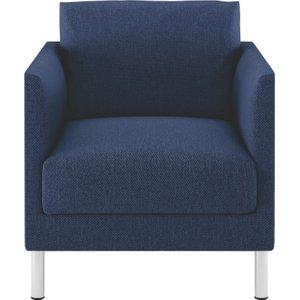 Habitat Hyde Blue Fabric Armchair, Metal Legs, Blue, Blue