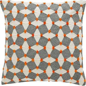 Habitat Irina Black And Orange Embroidered Cushion 45 X 45cm, Black And Orange, Black And Orange