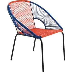 Habitat Jambi Blue And Orange Woven Garden Chair, Blue And Orange, Blue And Orange
