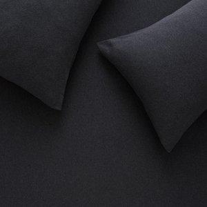 Habitat Jersey Dark Grey Single Duvet Cover Set, Grey, Grey