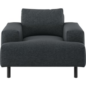 Habitat Julien Charcoal Grey Fabric Armchair, Charcoal, Charcoal