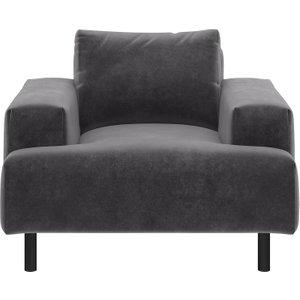 Habitat Julien Grey Velvet Armchair, Grey, Grey