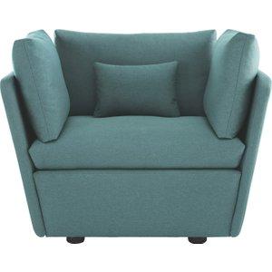Habitat Kasha Teal Blue Acor Fabric Armchair, Blue, Blue