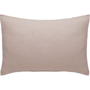 Habitat Linen Pink Linen Rectangular Pair Of Pillowcases, Pink, Pink