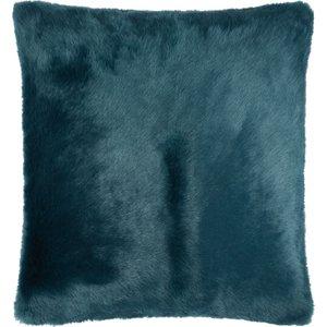 Habitat Lupin Teal Faux Fur Cushion 50 X 50cm, Teal, Teal