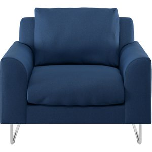 Habitat Lyle Blue Fabric Armchair, Blue, Blue