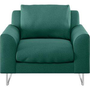 Habitat Lyle Green Fabric Armchair, Green, Green