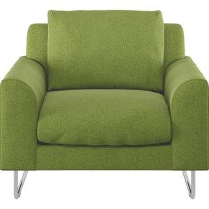 Habitat Lyle Green Wool Armchair, Metal Legs, Green, Green