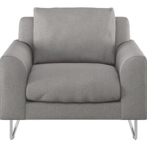 Habitat Lyle Grey Wool Armchair, Metal Legs, Grey, Grey