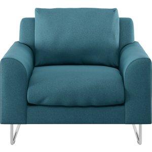 Habitat Lyle Teal Fabric Armchair, Teal, Teal