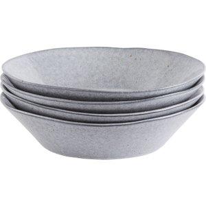 Habitat Maddox Grey Speckled Stoneware Set Of 4 Pasta Bowls, Grey, Grey