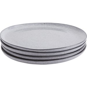 Habitat Maddox Grey Speckled Stoneware Set Of 4 Side Plates, Grey, Grey