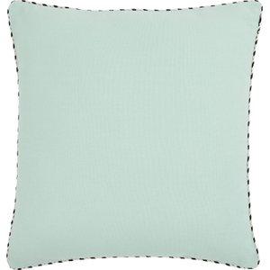 Habitat Masie Blue And Clay Reversible Cushion 45 X 45cm, Blue And Clay, Blue And Clay