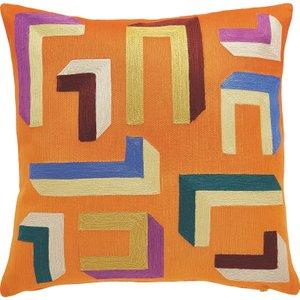 Habitat Mattoni Multi-coloured Embroidered Cushion 50 X 50cm, Multi-coloured, Multi-Coloured