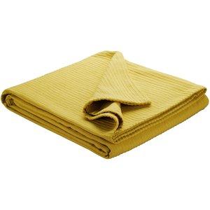 Habitat Merton Yellow Kingsize Bedspread 240 X 220cm, Saffron Yellow, Saffron Yellow