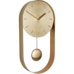 Habitat Metro Brass Pendulum Wall Clock, Brass, Brass