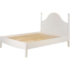 Habitat Minta White Painted Kingsize Bed Frame 150cm, White, White