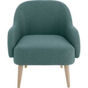 Habitat Momo Teal Blue Fabric Armchair, Wooden Feet, Blue, Blue