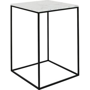 Habitat Nestor Tall Marble Occasional Table, White, White