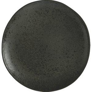 Habitat Noir Graphite Speckled Dinner Plate 29cm, Black, Black
