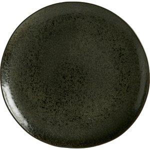 Habitat Noir Graphite Speckled Side Plate 23cm, Black, Black