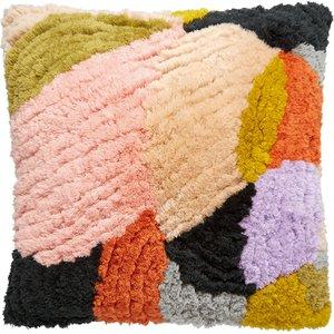 Habitat Nora Multi-coloured Tufted Cushion 50 X 50cm, Multi-coloured, Multi-Coloured