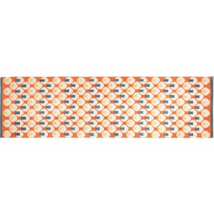 Habitat Octo Orange And Blue Handwoven Cotton Flatweave Runner 75 X 250cm, Orange, Orange