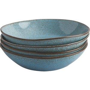 Habitat Olmo Turquoise Speckled Set Of 4 Pasta Bowl, Turquoise, Turquoise