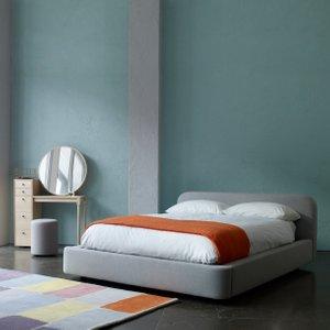 Habitat Ottori Grey Wool Eu Kingsize Storage Bed And Eton Mattress, Grey, Grey