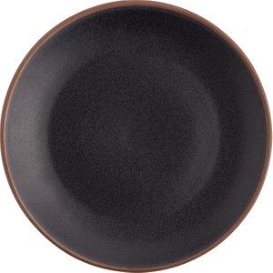 Habitat Pablo Black Exposed Rim Side Plate D22cm, Black, Black