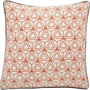 Habitat Paolo Orange Flocked Cushion 45 X 45cm, Orange, Orange