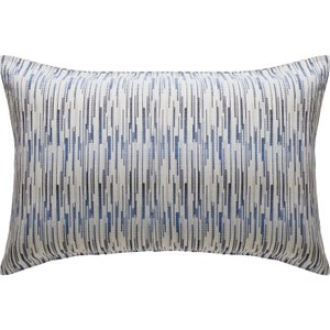 Habitat Parry Blue Patterned Rectangular Pair Of Pillowcases, Blue, Blue