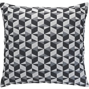 Habitat Paulista Black And White Quilted Cushion 60 X 60cm, Grey, Grey