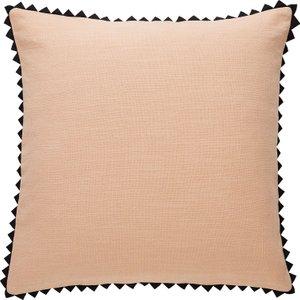 Habitat Perci Pink Triangle Edge Cotton Cushion 45 X 45cm, Pink, Pink