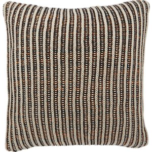 Habitat Phoenix Black And Cream Knitted Cushion 50 X 50cm, Multi-coloured, Multi-Coloured