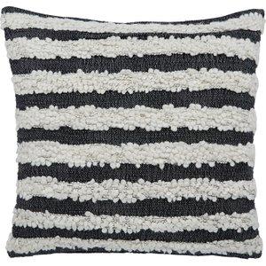 Habitat Popcorn Charcoal Grey And Cream Textured Cushion 50 X 50cm, White And Charcoal, White And Charcoal