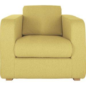 Habitat Porto Yellow Fabric Armchair, Wooden Feet, Saffron Yellow, Saffron Yellow