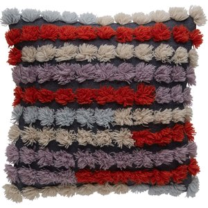 Habitat Reagan Multi-coloured Hand-woven Cushion With Tassels 50 X 50cm, Multi-coloured, Multi-Coloured