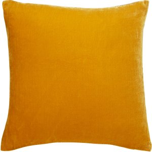 Habitat Regency Mustard Yellow Velvet Cushion 58 X 58cm, Yellow, Yellow