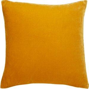 Habitat Regency Mustard Yellow Velvet Cushion 60 X 60cm, Yellow Yellow, Yellow Yellow