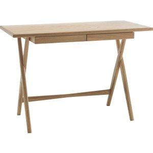 Habitat Roscoe Oak Desk With Storage Drawer, Oak