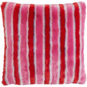 Habitat Shrimps Bridget Red And Pink Faux Fur Cushion 60 X 60cm, Red And Pink, Red And Pink