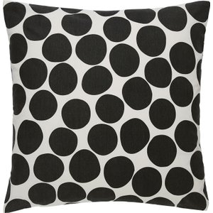 Habitat Sicilia Black Spot Printed Cushion 58 X 58cm, Black, Black